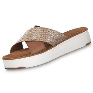 Tamaris Damen klassische Sandalen Braun Schuhe, Größe:37