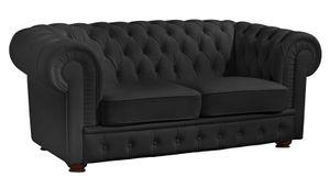 Max Winzer Bridgeport Sofa 2-Sitzer - Farbe: schwarz - Maße: 172 cm x 98 cm x 76 cm; 2883-2100-2070140-F07