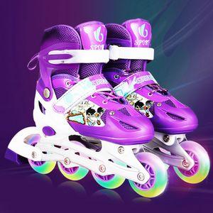 Inline-Skates für Kinder, Verstellbare Skates Mit Beleuchteten Rädern