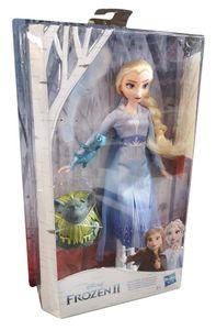 Hasbro E6660 Disney Frozen 2 Eiskönigin Elsa Reise Outfit Puppe Pabbie Echse