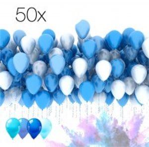 50x Luftballons Ballons Luftballon Luft und Helium blau, Babyblau