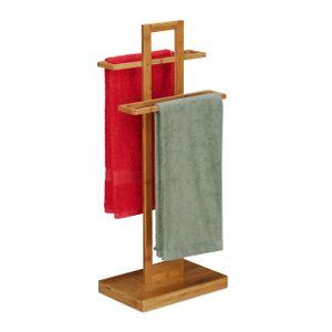 relaxdays Bambus Handtuchhalter stehend