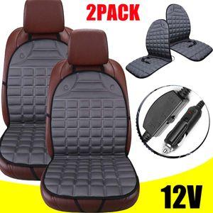 2X Auto Sitzheizung 12V 2 Heizstufen Heizauflage beheizbare Sitzauflage Heizkissen PKW Schnelles Erhitzen mit Zigarettenanzünder