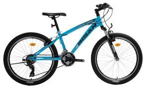 24 Zoll Kinder Jungen Mädchen Jugend MTB Fahrrad Kinderfahrrad  Mountainbike Jugendfahrrad 21 Gang Shimano Bike Rad Gabelfederung Federgabel Beleuchtung 4600 V BLAU