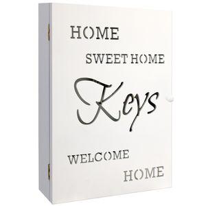 Wohaga® Schlüsselkasten 'Home Sweet Home' für 6 Schlüssel - Weiss