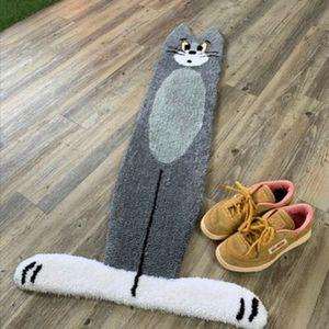 Tom Jerry Teppich Cartoon Cat Carpet Stair Mat Trittflächen Rutschfeste MASCHINE WASCHBARE Matten / Teppiche,60x120cm