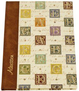 "Adressbuch ""Florentiner Alphabet"" - A5, 24-tlg. Register"