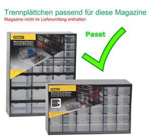 STANLEY Trennplättchen für Kleinteilemagazin passend für 1-93-980 / 981 Trennstege Lagersichtkasten  1-97-524