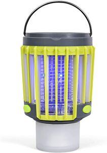 COSTWAY- 3-in-1 Insektenvernichter Solar-Campingleuchte Mückenkiller Taschelampe Mückenlampe Notlicht wasserdicht Für Camping, Wandern, Angeln