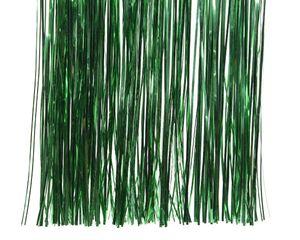 Lametta glänzend 40x50cm, 1 Stück, Farbe:grün