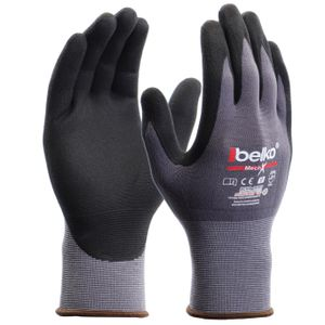 Belko® MechX Arbeitshandschuhe Montagehandschuhe Mechanikerhandschuhe Nylon Gr. 10 (XL) - 12 Paar