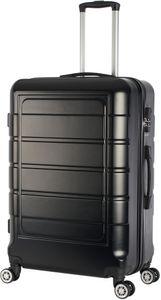 Hartschalenkoffer Trolley 4-Rollen Koffer Reisekoffer / XL 104 Liter / 201 - Farbe: schwarz