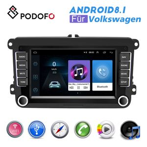 Podofo Android 8.1 2 Din GPS Autoradio 7 Zoll Auto MP5 Player mit WIFI GPS FM Radio Empfänger für VW SEAT Skoda