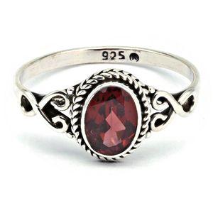 Granat Ring 925 Silber rot (MRI 42-52),  Ringgröße:58 mm / Ø 18.5 mm