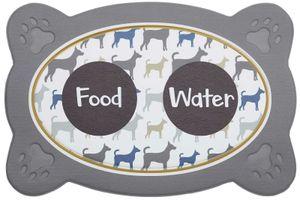 Napfunterlage Hund Katze Food + Drink Multi Futtermatte 40 x 60 cm Fressnapf Unterlage 6 Motive