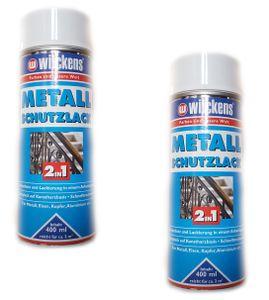 Wilckens Spraylack 400 ml Metall-Schutzlack Spray 2in1 Weiß