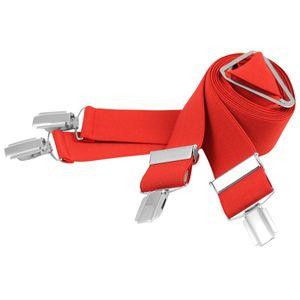 LINDENMANN Hosenträger Herren, X-Form, 35 mm, Stretch, XXL, rot, 9171-004, Größe / Size:120