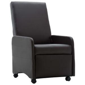 Möbel® Fernsehsessel Relaxsessel,Liegesessel,TV Sessel,Relax Liegestuhl Komfortabel Für Wohnzimmer Braun Kunstleder🌈5663