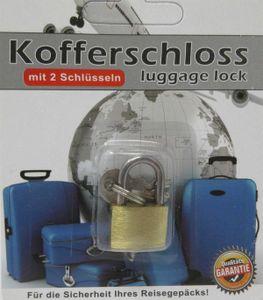 Kleines Gepäckschloss mit 2 Schlüssel Reiseschloss Kofferschloss Vorhängeschloss