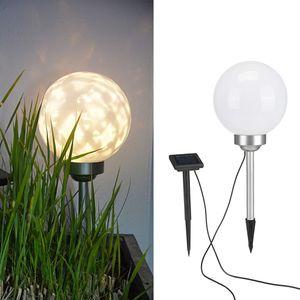 HI Solar LED Drehbare Garten-Kugelleuchte 20 cm