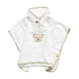 STEIFF® Kinder Frottee Badeponcho , Präzise Farbe:Weiß