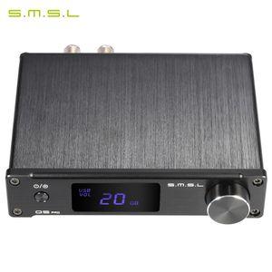 SMSL Q5 pro tragbare Mini-HiFi-Digital-3,5-mm-AUX Analog / USB / koaxial / optisch Stereo-Audio-Leistungsverstaerker Amp mit Fernbedienung