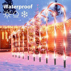10 Licht 53cm LED Lichterkette innen + außen Zuckerstange Lichtschlauch Weihnachtsbeleuchtung