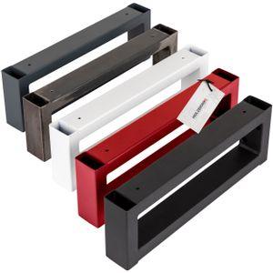 HOLZBRINK Wandhalterung für Waschtischplatte Aufsatzwaschbecken Nachttisch Regalträger Handtuchhalter 450x150 mm (BxH), schwarz, 2 Stück, HLA-450-9005