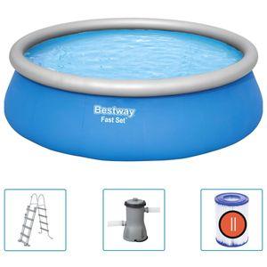 Bestway Fast Set Aufblasbarer Swimmingpool Rund 457x122 cm