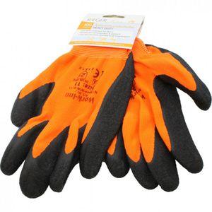 Arbeitshandschuhe Gartenhandschuhe Montagehandschuhe Handschuhe Orange Schwarz Gr. M