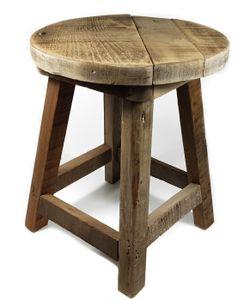 Holz Hocker NATUR - Blumenhocker aus altem Holz
