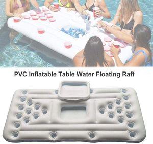 Aufblasbares Luftmatratze-Bett, Bier Pong Spiel Pool Party Float, Game Pool Table Water Floating, Getränkekühler, Für Erwachsene