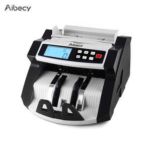 Aibecy Automatische Multi-Currency Geldschein Geld Bill Zähler Zählmaschine LCD-Display mit UV MG Counterfeit Detector für EURO US Dollar AUD Pfund