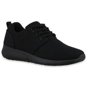 Mytrendshoe Damen Sportschuhe Laufschuhe Runners Sneakers Schuhe 814755, Farbe: Schwarz Schwarz, Größe: 37
