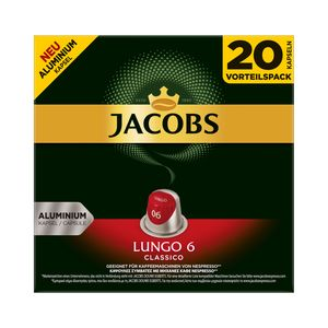 Jacobs Kapseln Lungo Classico | 20 Nespresso® komp. Kapseln