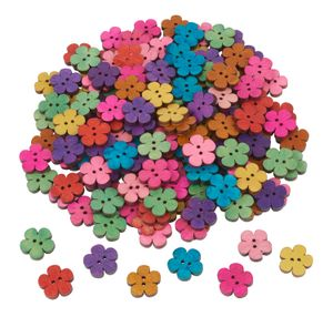 "160 Knöpfe ""Blumen"", Farbmix,  VBS Großhandelspackung"
