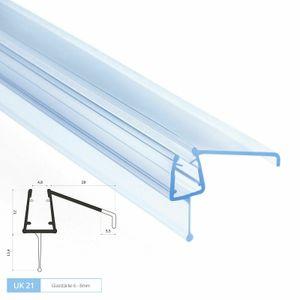 80cm Duschdichtung Gerade | Modell: UK21 | Glasstärke: 6 – 8mm | Transparent | UK21.8