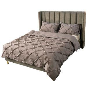 Bettwäsche 135x200cm polyester fiber 2 teilig - Grau Bettbezug Set, weiche Flauschige Bettbezüge mit Reißverschluss und 1 mal 50x75cm Kissenbezug