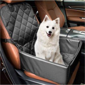 Apotto Extra Stabiler Hunde Autositz - Hochwertiger Auto Hundesitz für kleine bis mittlere Hunde - Verstärkte Wände und 3 Gurte - Wasserdichter Hundeautositz für Rück- und Vordersitz