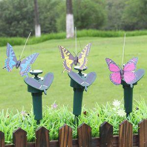 3X Solar Fliegende Flatternde Schmetterlinge,Bunte Gartenschmetterlinge (Solar/Batterie) Power,Gartenschmuck Lebendige Simulation Schmetterling