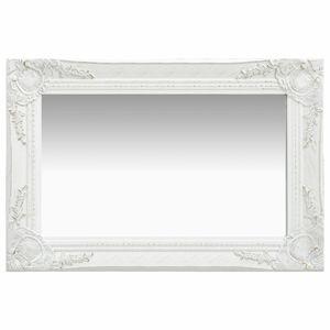 Wandspiegel im Barock-Stil 60 x 40 cm Weiß
