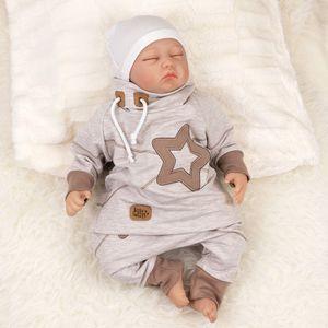 Baby Sweets Set Hose und Shirt Star beige braun 1 Monat (56)
