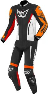 Berik Monza 2-Teiler Motorrad Lederkombi Farbe: Schwarz/Weiß/Rot/Orange, Grösse: 58