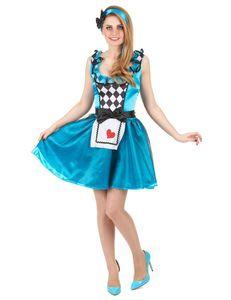 Süsse Märchen-Prinzessin Damenkostüm Alice blau-weiss-schwarz