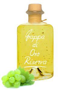 Grappa di Oro Riserva Barrique 0,5L mit Blattgold sehr mild 40%Vol