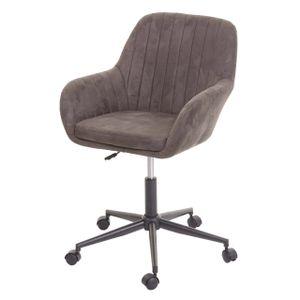 Bürostuhl MCW-D35, Drehstuhl Schreibtischstuhl Lehnstuhl Stuhl, Stoff/Textil mit Armlehne  vintage braun