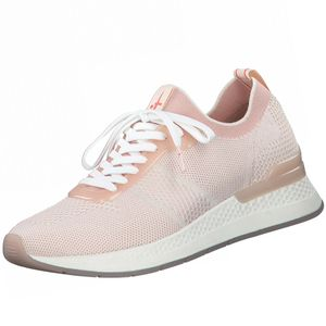 Tamaris Damen Low Sneaker Fashletics Lace Up 1-23712-26 Rosa 645 Powder Comb Textil/Synthetik mit Removable Sock, Groesse:37 EU