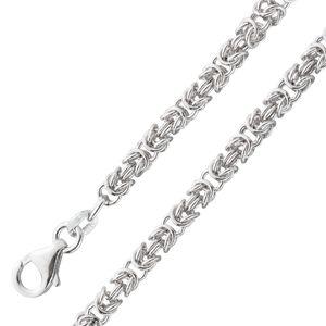 Königskette 4mm  Herrenkette rund Halskette Armband Königsarmband Sterling Silber 925 poliert 80