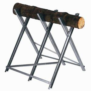 Einhell Kettensägebock, Arbeitshöhe ca. 60 – 64 – 68 cm, max. Tragkraft 150 kg, zusammenklappbar, 4500067
