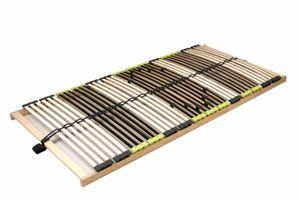 DaMi 7 Zonen Buche Lattenrahmen zerlegt Lattenrost Relax NV inkl. 6 fache Härteverstellung (120 x 200 cm)